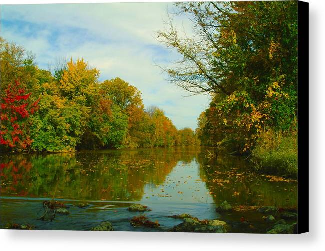 Autumn Canvas Print featuring the photograph 100911-39 by Mike Davis