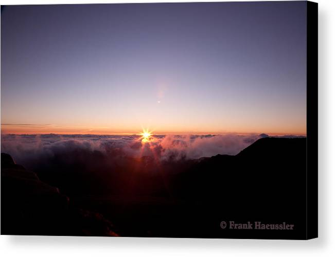 Maui Canvas Print featuring the photograph Above The Clouds by Frank Haeussler
