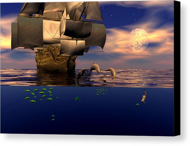 Bryce Canvas Print featuring the digital art Arrival Of The Pilots by Claude McCoy