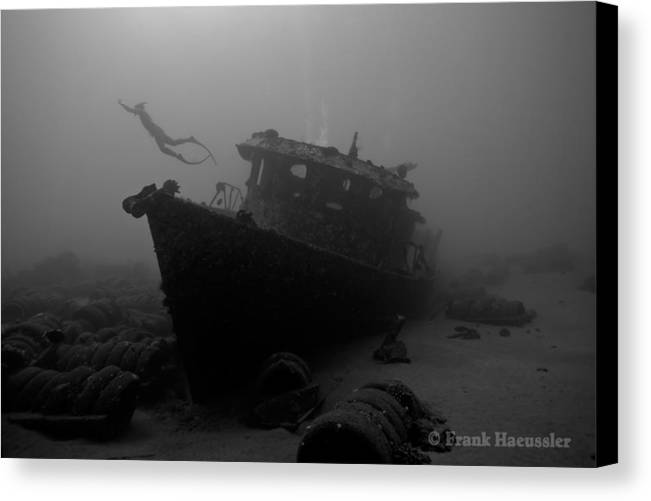 Maui Canvas Print featuring the photograph Freedive by Frank Haeussler