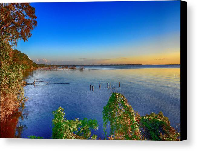 Sunset Canvas Print featuring the photograph Jackson Lake by Michelle Armstrong