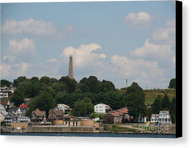 Landscape Canvas Print featuring the photograph Monument by Gerald Mitchell
