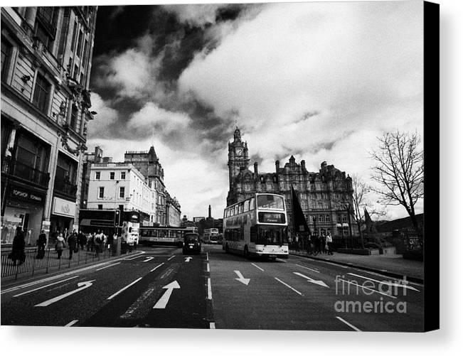 Princes Canvas Print featuring the photograph Princes Street Edinburgh Scotland by Joe Fox