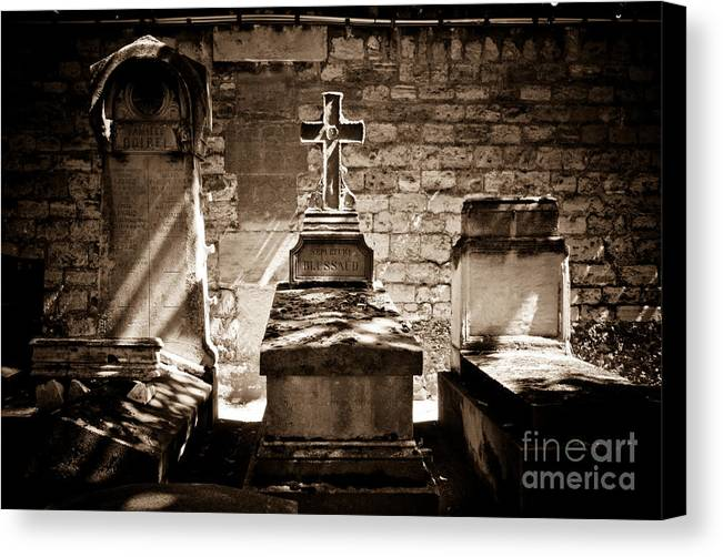 Cemetery Canvas Print featuring the photograph Resting In The Afternoon With A Stranger by Christopher Wilson