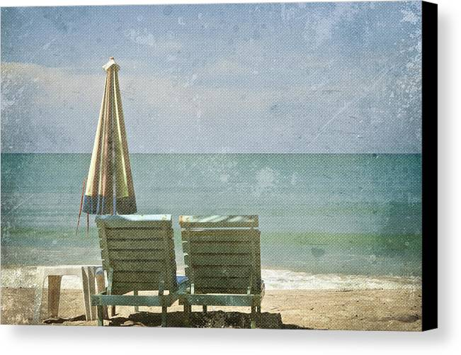 Azure Canvas Print featuring the photograph Side By Side by Georgia Fowler
