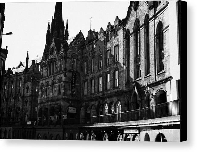 Quaker Canvas Print featuring the photograph The Quaker Meeting House On Victoria Street Edinburgh Scotland Uk United Kingdom by Joe Fox