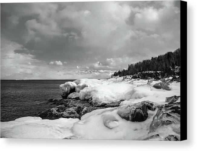 Presque Isle Canvas Print featuring the photograph Frigid by Michael Tucker