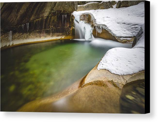 Falls Canvas Print featuring the photograph The Basin by Robert Clifford