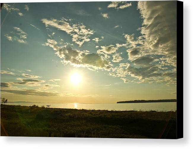 Canvas Print featuring the photograph Birch Bay by JK Photography