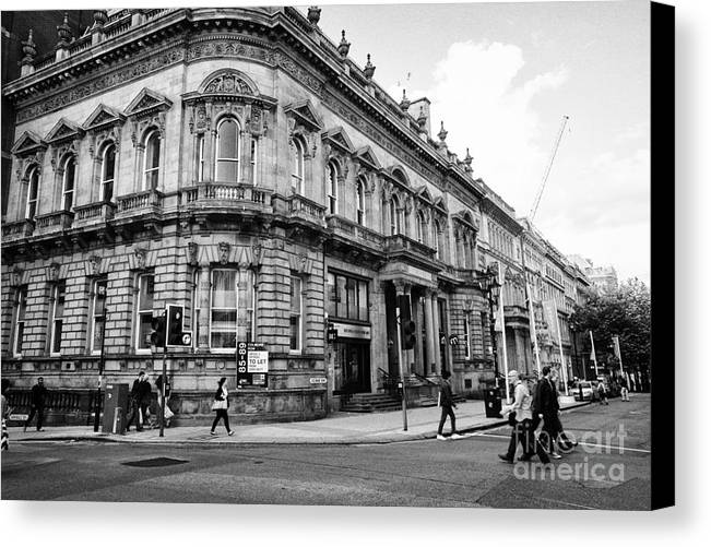 Row Canvas Print featuring the photograph 85 89 Colmore Row Former Union Gentlemans Club Birmingham Uk by Joe Fox