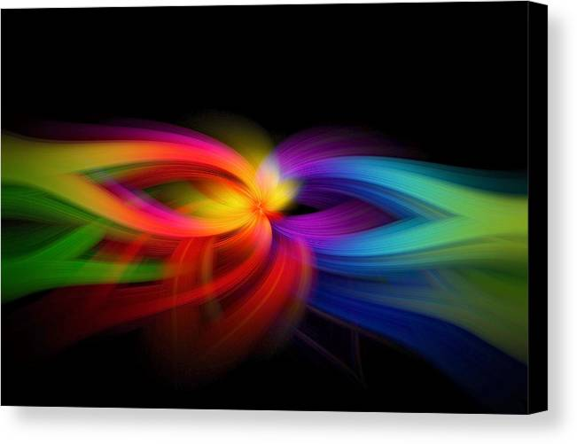 Rainbow Canvas Print featuring the photograph Abstract 9154 by Michael Lynn