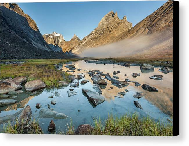 Alaska Canvas Print featuring the photograph Arrigetch Valley by Patrick Endres