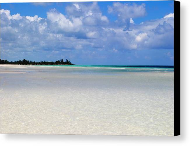 Canvas Print featuring the photograph Bahamas by Karla Kernz