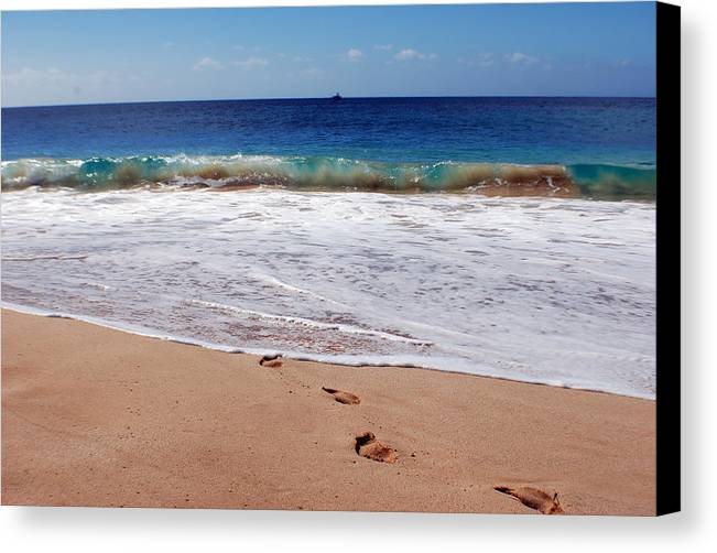Canvas Print featuring the photograph Big Beach by JK Photography