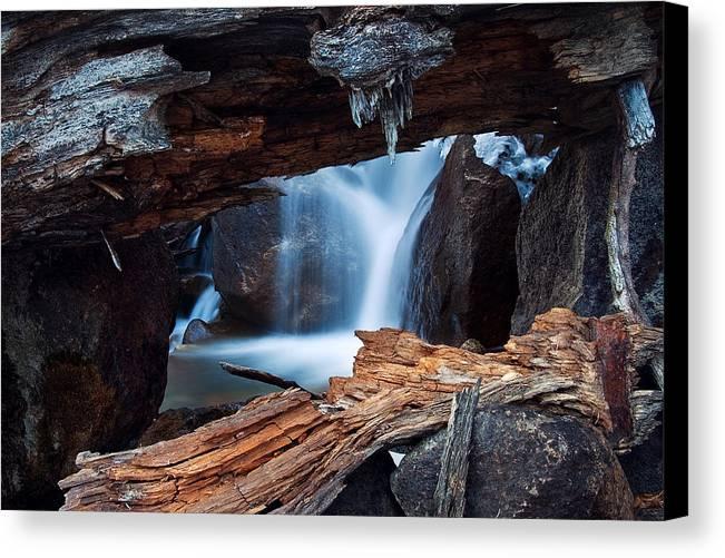 Big Pine Canvas Print featuring the photograph Big Pine Creek by Nolan Nitschke