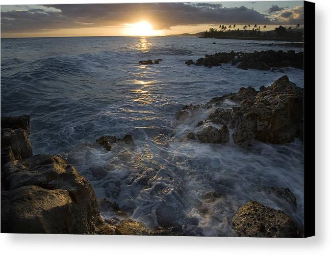 Brenneke Canvas Print featuring the photograph Brenneke Sunset by Nick Galante