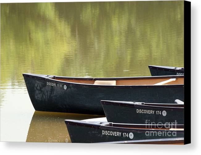 Canoe Canvas Print featuring the photograph Calm Morning by Jeannie Burleson