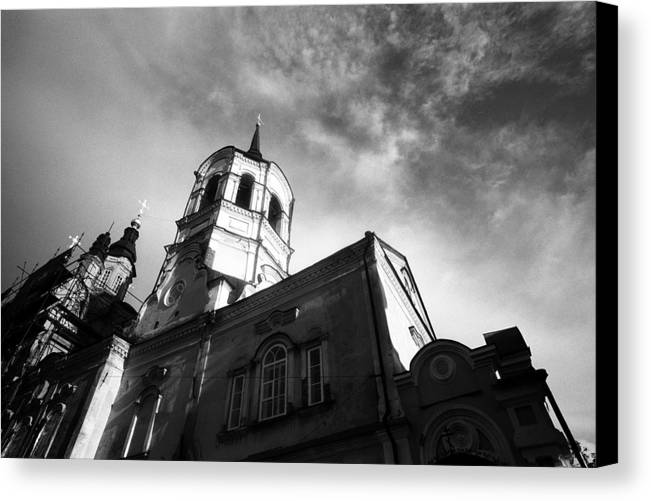 Church Canvas Print featuring the photograph Catholic Church Tomsk Siberia Russia by Susan Chandler