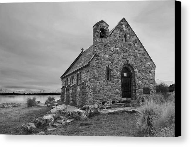Landscape Canvas Print featuring the photograph Church Of The Good Shepherd by Andrea Cadwallader