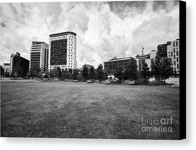 Curzon Canvas Print featuring the photograph curzon park eastside city park Birmingham UK by Joe Fox