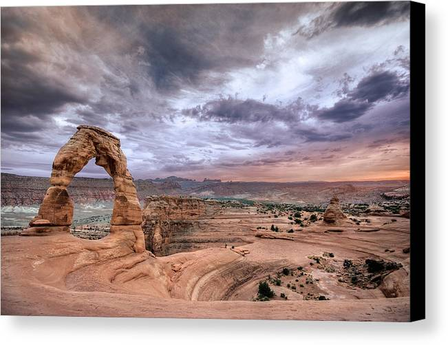 Arch Canvas Print featuring the photograph Delicate Arch by Ryan Heffron