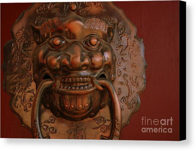 Canvas Print featuring the photograph Doorknocker 01 by April Holgate