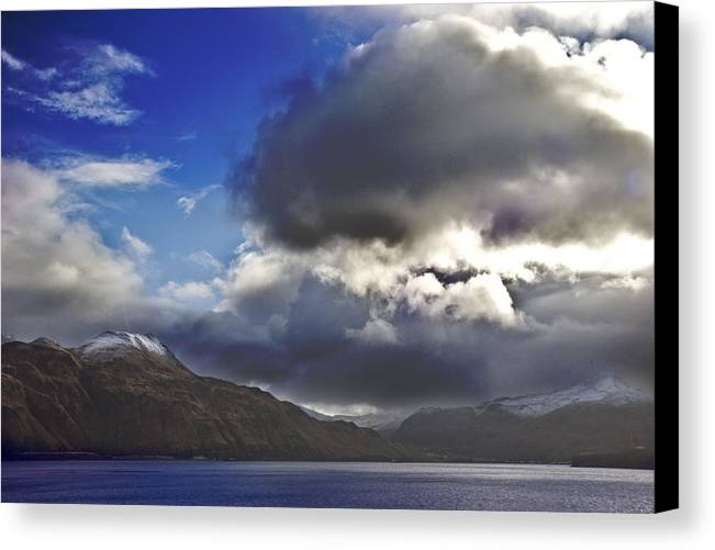 Landscape Canvas Print featuring the photograph Dutch Harbor by Wes Shinn