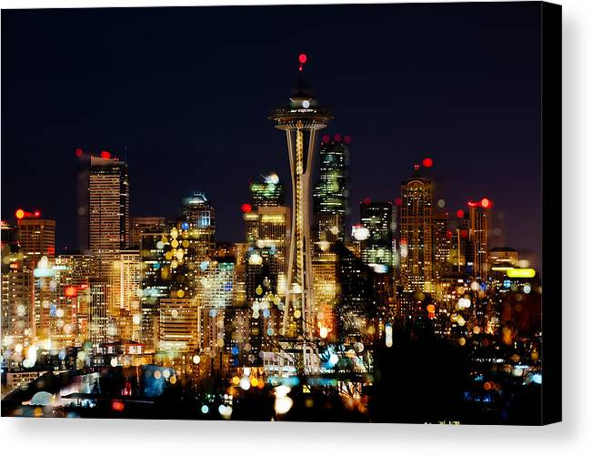 Seattle Canvas Print featuring the photograph Earth Hour Spots A348 by Yoshiki Nakamura