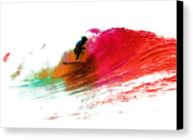 Surf Canvas Print featuring the photograph Fire Water by David Coyle