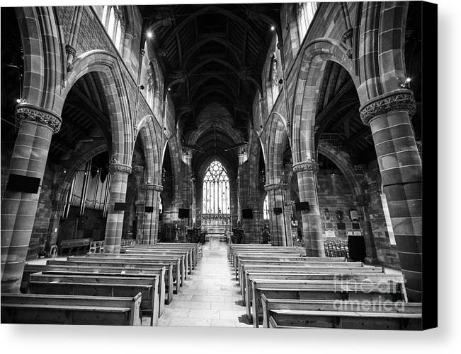 Interior Canvas Print featuring the photograph interior of st martins church Birmingham UK by Joe Fox