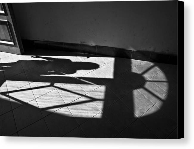 Shadow Canvas Print featuring the photograph It Leaves... Do Not Hold It... by Vadim Grabbe