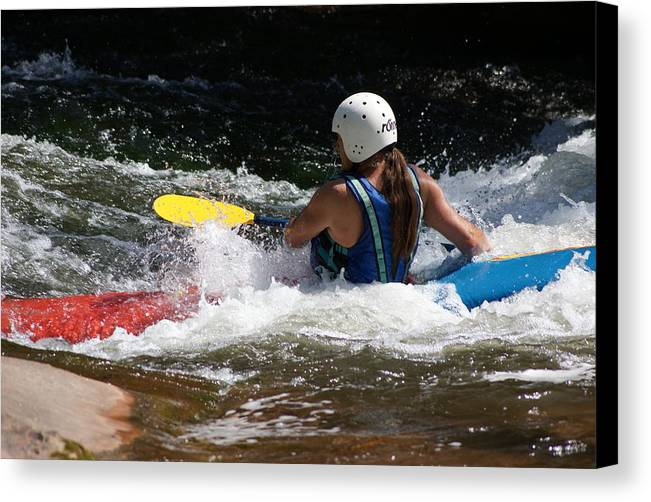 Outdoor Canvas Print featuring the photograph Kayaking The Brule by Ron Read