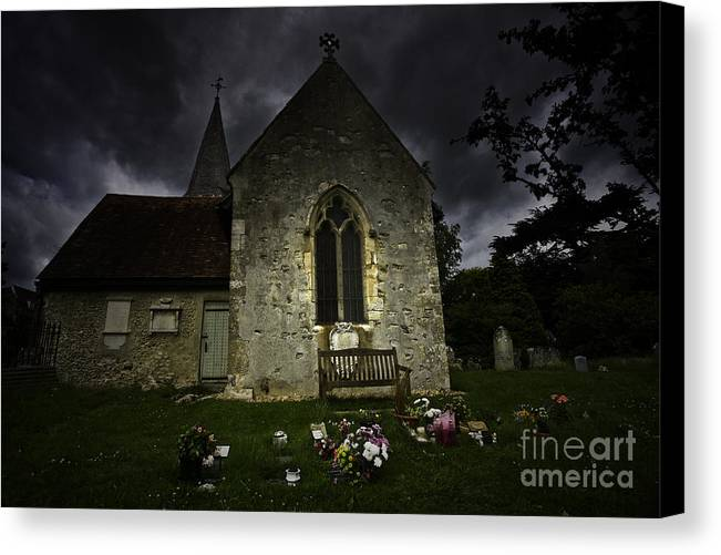 Church Canvas Print featuring the photograph Norman Church At Lissing Hampshire England by Sheila Smart Fine Art Photography