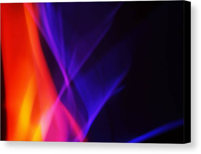 Abstract Canvas Print featuring the photograph Painting With Light 3 by Chris Rodenberg
