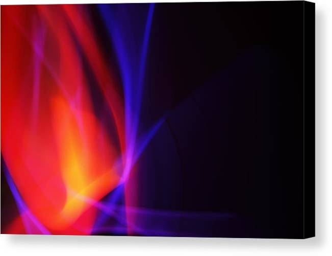 Abstract Canvas Print featuring the photograph Painting With Light 5 by Chris Rodenberg