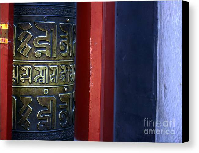 Prayer Canvas Print featuring the photograph Prayer Wheel At The Lama Temple by April Holgate