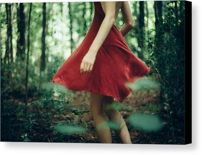 Dress Canvas Print featuring the photograph Red Dress by Megan Mullins