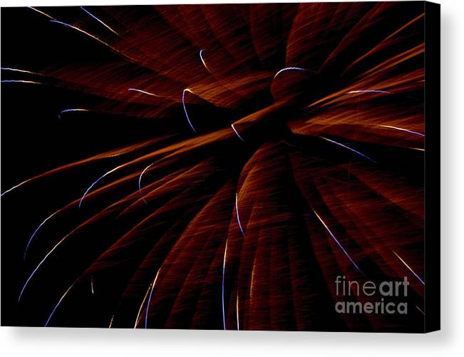 Fireworks Canvas Print featuring the photograph Red Flare by Jeannie Burleson