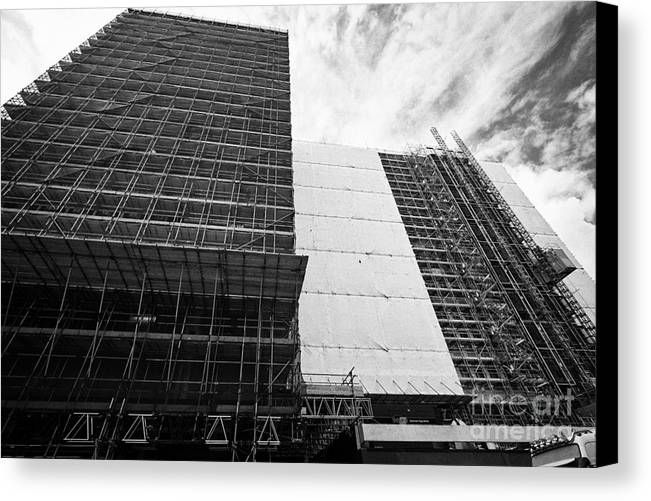 Office Canvas Print featuring the photograph Refurbishment Of Lloyd House West Midlands Police Headquarters Office Development In New Financial A by Joe Fox