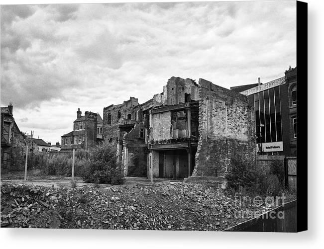Birmingham Canvas Print featuring the photograph remains of st pauls school derelict building site future campus for university college Birmingham UK by Joe Fox