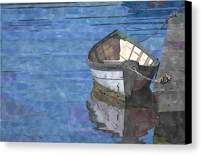 Rowboat Canvas Print featuring the photograph Rowboat by Kelly Bryant