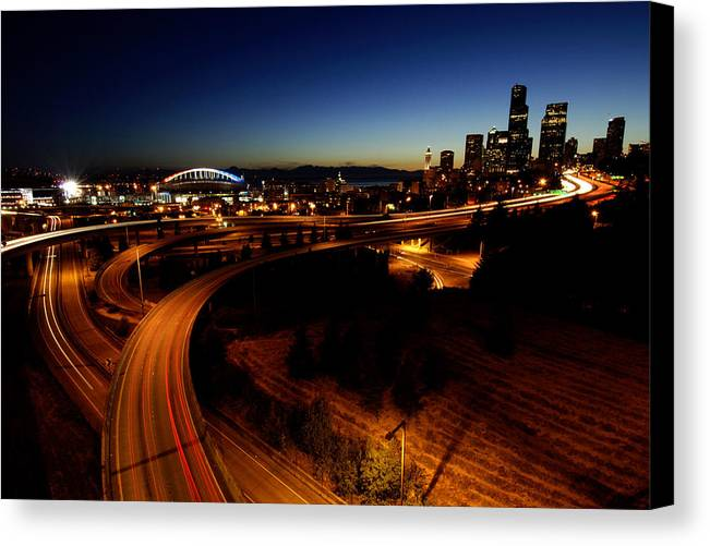 Seattle Canvas Print featuring the photograph S Curve C015 by Yoshiki Nakamura