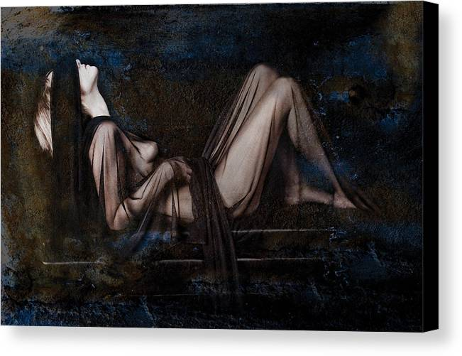 Female Nude Canvas Print featuring the photograph Silence by Andrew Giovinazzo