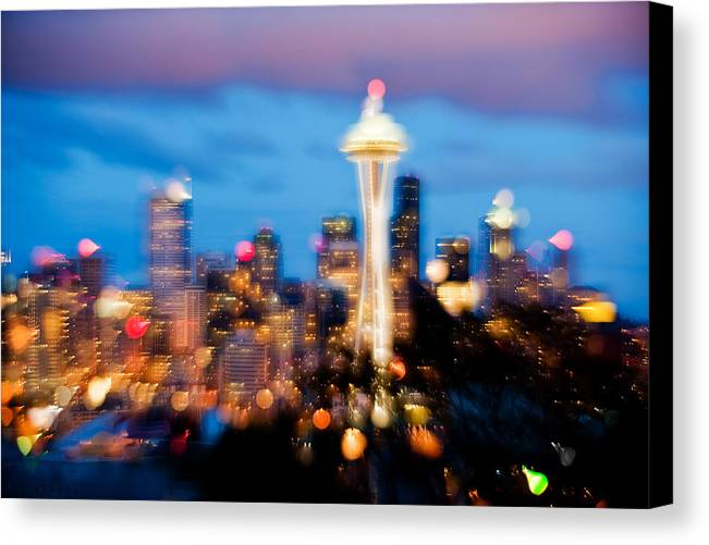 Seattle Canvas Print featuring the photograph Soft Color Night by Yoshiki Nakamura