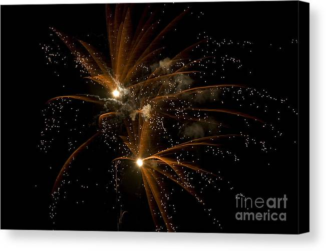 Fireworks Canvas Print featuring the photograph Sparkles by Jeannie Burleson