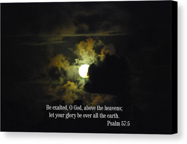Christian Canvas Print featuring the photograph Summer Moon by Steven Rice