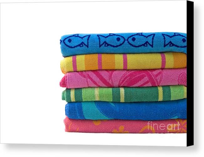 Beach Towel Canvas Print featuring the photograph Summer Time 2 by Jeannie Burleson