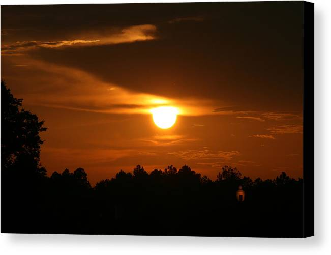 Landscape Canvas Print featuring the photograph Sunset In The South by Greg Sharpe