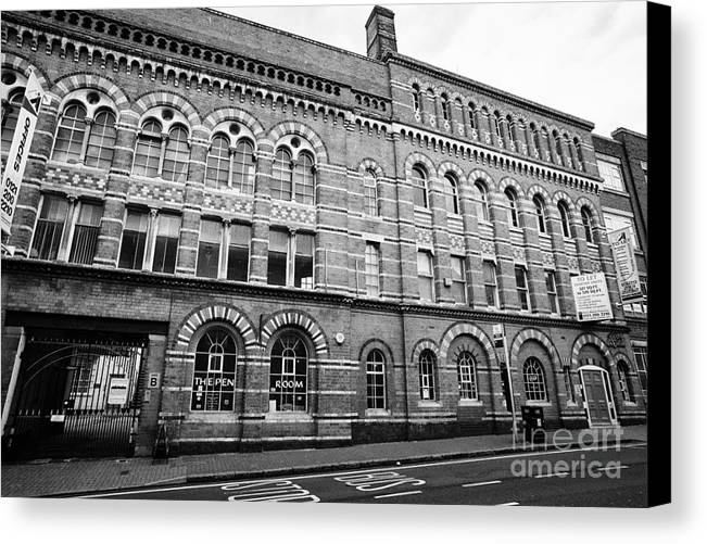 Argent Canvas Print featuring the photograph The Argent Centre And The Pen Room Birmingham Uk by Joe Fox