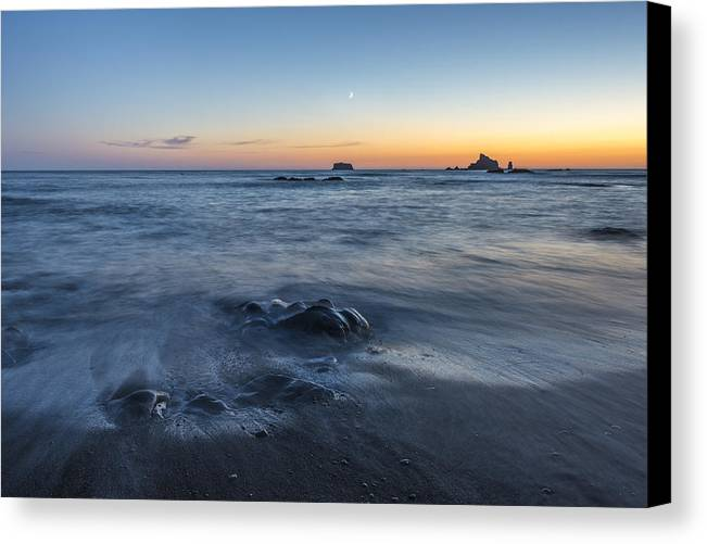 Art Canvas Print featuring the photograph The Intention Of The Sea by Jon Glaser